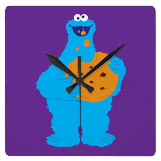 Relógio Quadrado Gráfico do monstro do biscoito