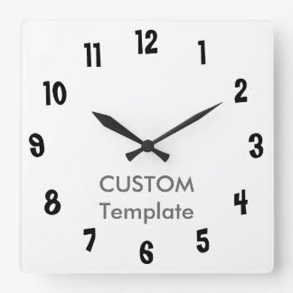 "Relógio Quadrado Grande 10,75"" feito sob encomenda LIMBO GRANDE"