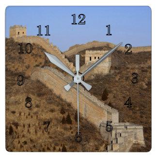 Relógio Quadrado Grande Muralha de China