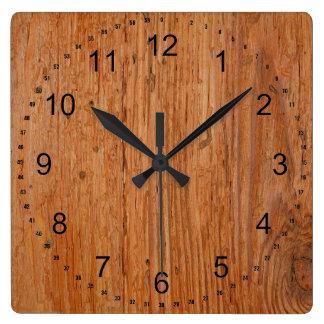 Relógio Quadrado Grande pulso de disparo do quadrado da grão da