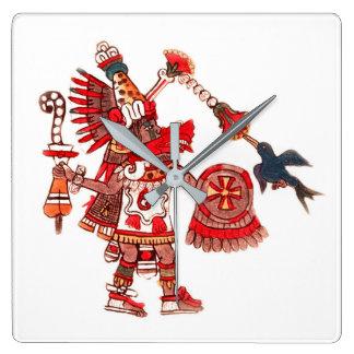 Relógio Quadrado Guerreiro asteca do shaman da dança