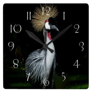 Relógio Quadrado Guindaste coroado cinza de África do Sul