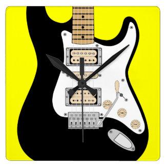 Relógio Quadrado Guitarra elétrica