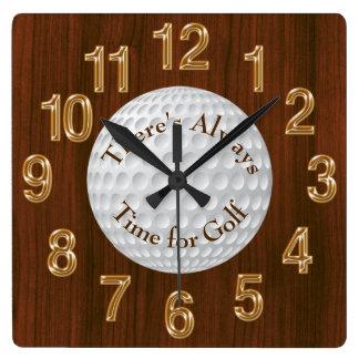 Relógio Quadrado Há sempre uma hora para o PULSO DE DISPARO do