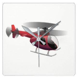 Relógio Quadrado Helicóptero