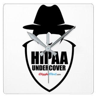 Relógio Quadrado HIPAA secreto