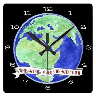 Relógio Quadrado Hora para a paz da mudança no pulso de disparo da