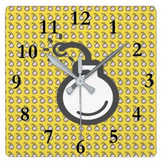Relógio Quadrado Ícone da bomba