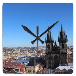 Relógio Quadrado Igreja de nossa senhora antes do týn - Praga