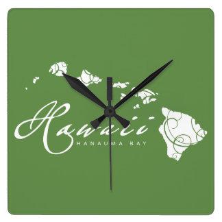 Relógio Quadrado Ilhas de Havaí