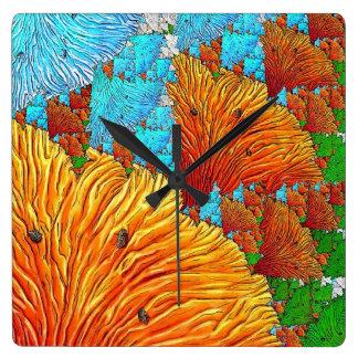 Relógio Quadrado Ilustração coral