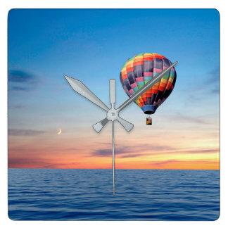 Relógio Quadrado Imagem do balão de ar quente para o pulso de