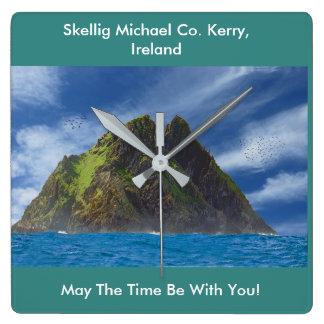 Relógio Quadrado Imagem irlandesa para o pulso de disparo de parede