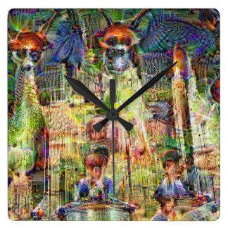 Relógio Quadrado Imagens de DeepDream, catedral 1.2s