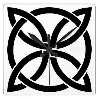 Relógio Quadrado irlandês antigo do pagan do símbolo de ireland do