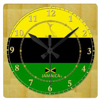 Relógio Quadrado Jamaica colore a venda moderna do presente do