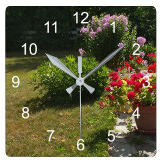 Relógio Quadrado Jardim bonito