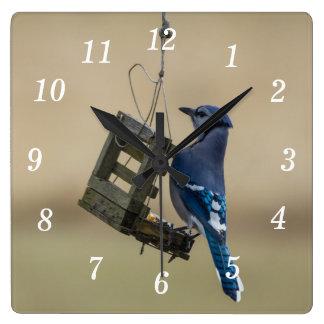 Relógio Quadrado Jay azul de balanço