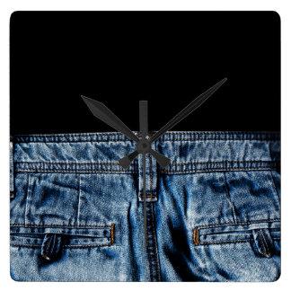 Relógio Quadrado Jeans - ESFRIE ASSIM