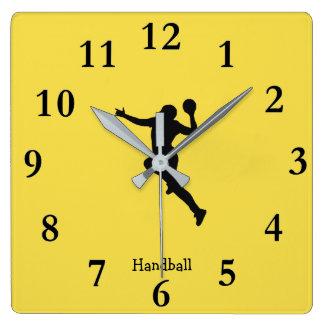 Relógio Quadrado Jogador do handball
