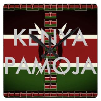 Relógio Quadrado Kenya bonito Pamoja