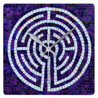 Relógio Quadrado Labirinto VIII