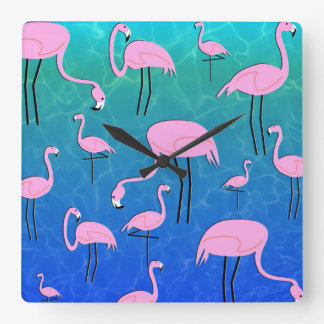 Relógio Quadrado Lagoa do flamingo
