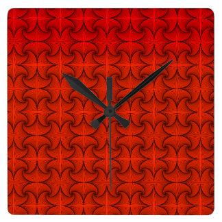Relógio Quadrado Laranja do outono