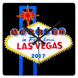 Relógio Quadrado Las Vegas que Wedding a lembrança
