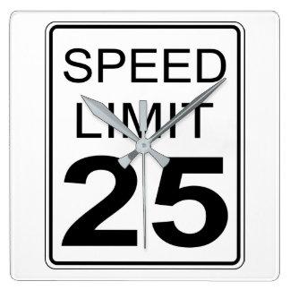 Relógio Quadrado Limite de velocidade