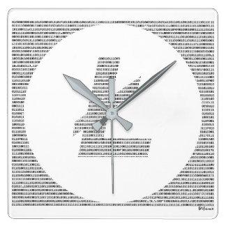 Relógio Quadrado Litecoin binário