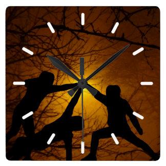 Relógio Quadrado Lutadores da espada