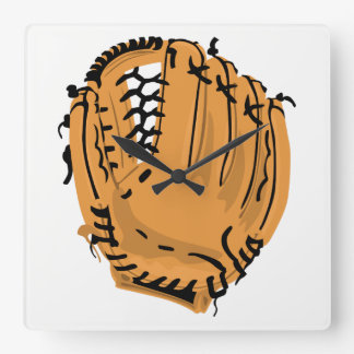 Relógio Quadrado Luva de basebol