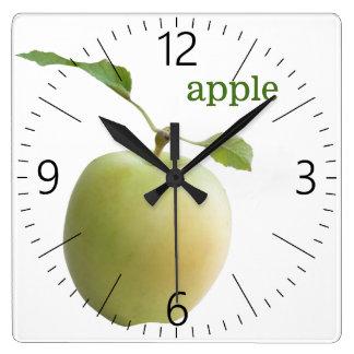 Relógio Quadrado Maçã verde
