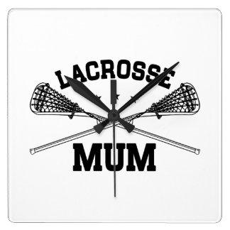 Relógio Quadrado Mãe do Lacrosse