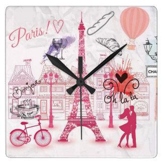 Relógio Quadrado Mágica de Paris