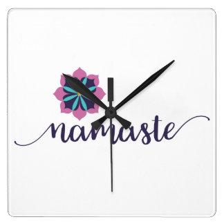 Relógio Quadrado mandala do namaste