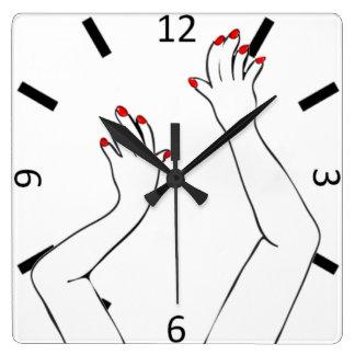 Relógio Quadrado Mãos