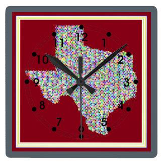 Relógio Quadrado Mapa colorido do pulso de disparo quadrado de