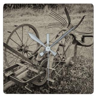 Relógio Quadrado Máquina agrícola do vintage