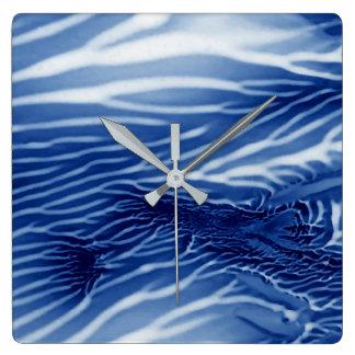 Relógio Quadrado Mar azul abstrato