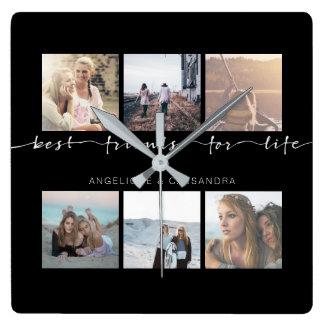 Relógio Quadrado Melhores amigos para fotos de Instagram da