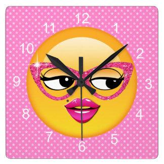 Relógio Quadrado Menina Flirty ID227 de Emoji