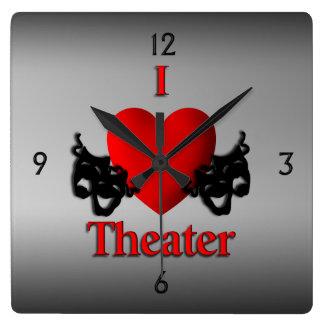 Relógio Quadrado Mim pulso de disparo de parede do teatro do