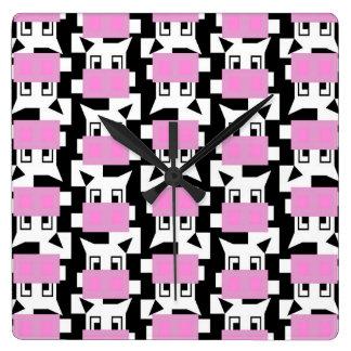 Relógio Quadrado MOO da vaca do MOO