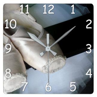 Relógio Quadrado Mostra de Pointe & pulso de disparo de parede do