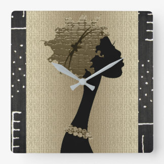 Relógio Quadrado Mulher africana