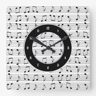 Relógio Quadrado Música