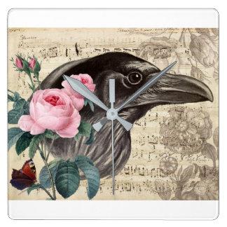 Relógio Quadrado Música do corvo