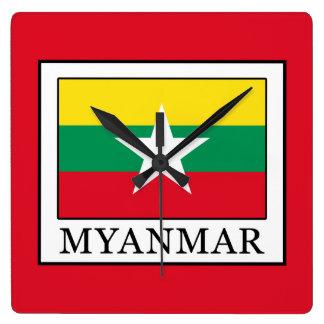 Relógio Quadrado Myanmar